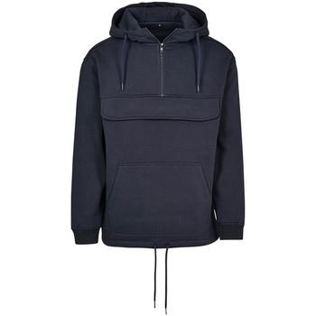 textil Sweatshirts Build Your Brand BY098 Marinblått