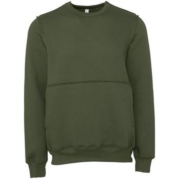 textil Sweatshirts Bella + Canvas BE133 Militärt grönt