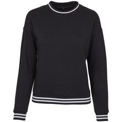textil Dam Sweatshirts Build Your Brand BY105 Svart/vit
