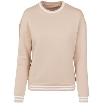 textil Dam Sweatshirts Build Your Brand BY105 Ljusrosa/vit