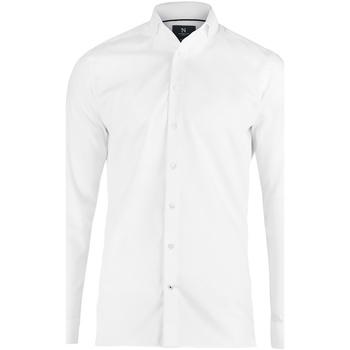 textil Herr Långärmade skjortor Nimbus N102M Vit