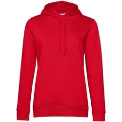 textil Dam Sweatshirts B&c  Röd