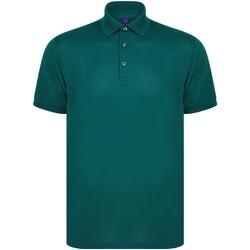textil Kortärmade pikétröjor Henbury HB465 Flaskegrön