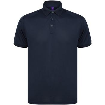 textil Kortärmade pikétröjor Henbury HB465 Marinblått