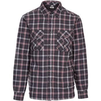 textil Herr Långärmade skjortor Trespass  Mörkgrå