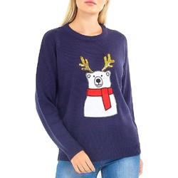 textil Dam Sweatshirts Brave Soul  Marinblått