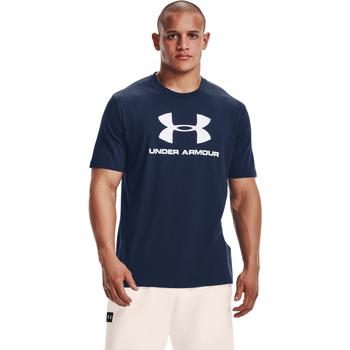 textil Herr Kortärmade pikétröjor Under Armour Ua Sportstyle Logo Blå