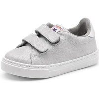 Skor Flickor Sneakers Cienta Chaussures fille  Deportivo Scractch Glitter gris clair