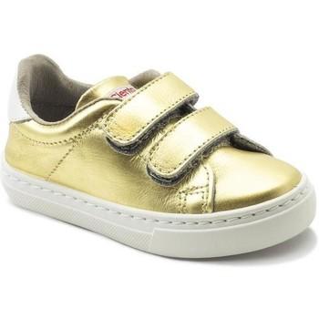 Skor Flickor Sneakers Cienta Chaussures fille  Deportivo Scractch Laminado doré