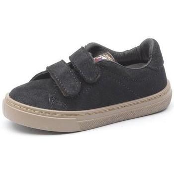 Skor Flickor Sneakers Cienta Baskets  Deportivo Velcro On Suede noir