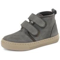Skor Flickor Höga sneakers Cienta Bottines fille  Doble Velcro On Napa gris anthracite