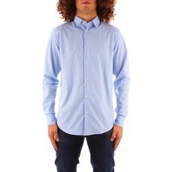 textil Herr Långärmade skjortor Trussardi 52C00216 1T004966 BLUE