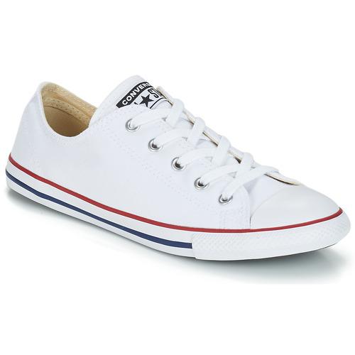 Skor Dam Sneakers Converse ALL STAR DAINTY OX Vit / Röd