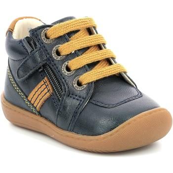 Skor Flickor Boots Aster Chaussures fille  Piasap bleu marine/orange clair