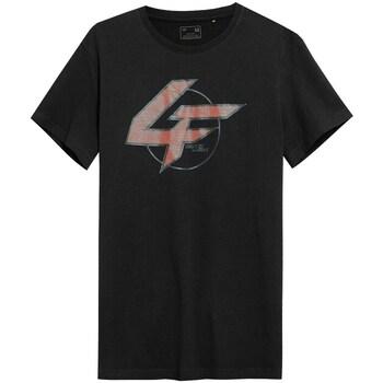 textil Herr T-shirts 4F TSM022 Svarta