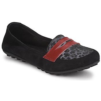 Skor Flick Loafers Mod'8 CELEMOC JUNIOR Svart / Leopard / Röd