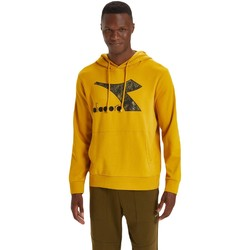 textil Herr Sweatshirts Diadora Big Logo Gul
