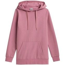 textil Dam Sweatshirts 4F BLD352 Rosa