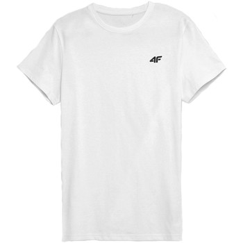 textil Herr T-shirts 4F TSM352 Vit