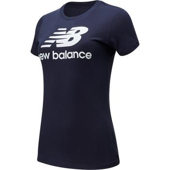 textil Dam T-shirts New Balance Essentials Stack Blå