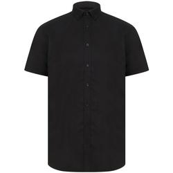 textil Herr Kortärmade skjortor Henbury H517R Svart