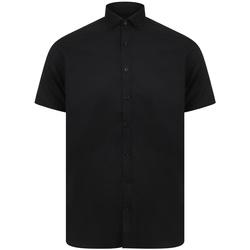 textil Herr Kortärmade skjortor Henbury H517S Svart