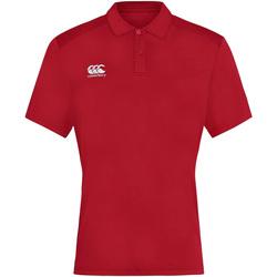 textil Herr Kortärmade pikétröjor Canterbury CN263 Röd