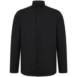 textil Herr Långärmade skjortor Henbury H512R Svart