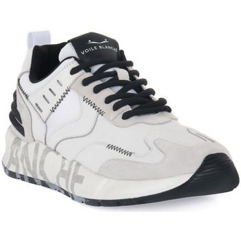 Skor Herr Sneakers Voile Blanche CLUB15 Bianco