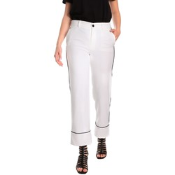 textil Dam Chinos / Carrot jeans Denny Rose 811DD20006 Vit