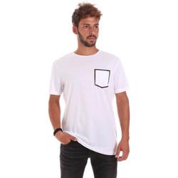 textil Herr T-shirts Antony Morato MMKS00980 FA100084 Vit