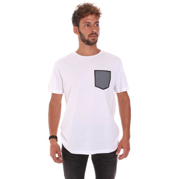 textil Herr T-shirts Antony Morato MMKS01025 FA100084 Vit