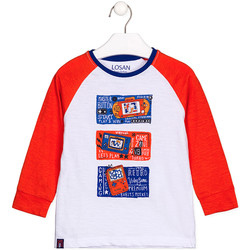 textil Barn Långärmade T-shirts Losan 125-1015AL Vit