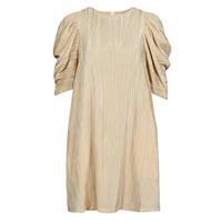 textil Dam Korta klänningar Moony Mood  Beige