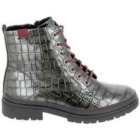 Skor Dam Boots Jana Boots 25222 Noir Croco Svart