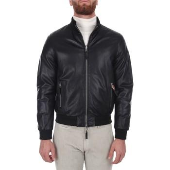 textil Herr Vindjackor Leather Authority DERR PLON Black