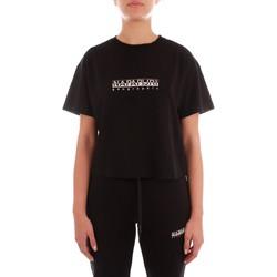textil Dam T-shirts Napapijri NP0A4FSO0411 BLACK
