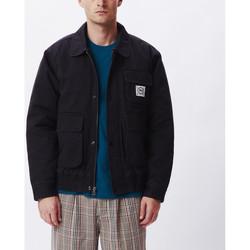 textil Herr Vindjackor Obey Coltrane jacket Svart