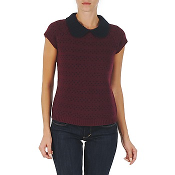 textil Dam Tröjor Manoush TOP CROCHET CŒUR Bordeaux