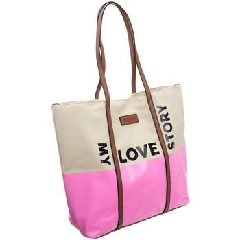 Väskor Dam Handväskor med kort rem Monnari 67960 Beige, Rosa
