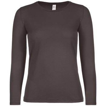 textil Dam Långärmade T-shirts B And C TW06T Bear Brown
