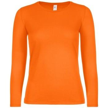 textil Dam Långärmade T-shirts B And C TW06T Orange