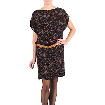 textil Dam Korta klänningar Antik Batik QUINN Svart