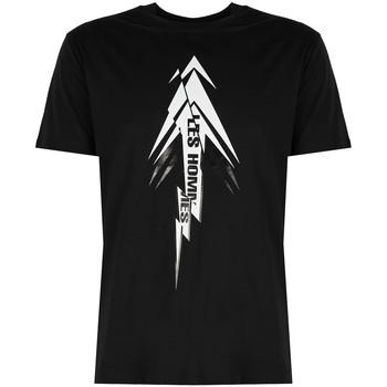 textil Herr T-shirts Les Hommes  Svart