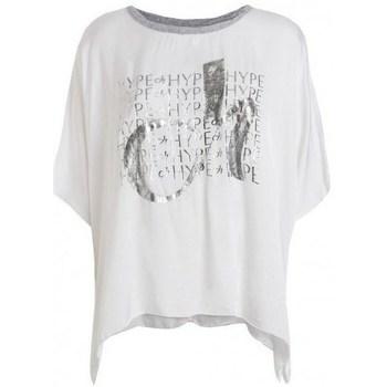 textil Dam T-shirts Deha D43333 Vit
