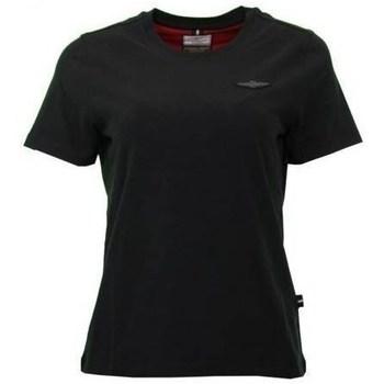 textil Dam T-shirts Aeronautica Militare TS1755 Svarta