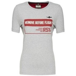 textil Dam T-shirts Aeronautica Militare TS1754 Vit