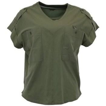 textil Dam T-shirts Aeronautica Militare TS1883 Gröna