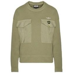 textil Dam Sweatshirts Aeronautica Militare FE1617DF43439 Oliv
