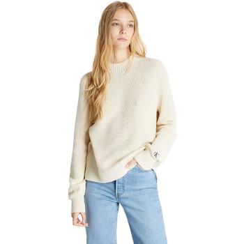 textil Dam Tröjor Calvin Klein Jeans J20J215290 Beige